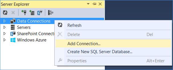 Using the PSQL Data Providers in Visual Studio